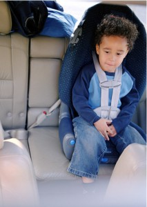 Car seat with toddler