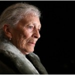 Elderly woman thinking MSClipArt